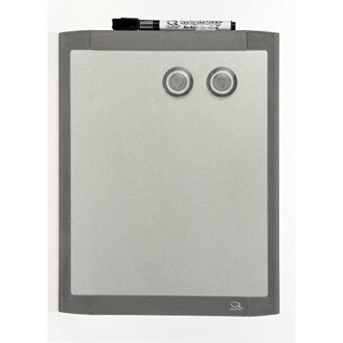 Quartet Stainless Steel Finish Magnetic Dry-Erase Board, 8.5 x 11 Inches, Graphite Gray Frame - Graphite Frame Plastic Gray