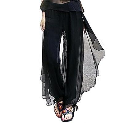 ABBY Pantalons printemps et l'été Harlan vent national des femmes en mousseline de soie