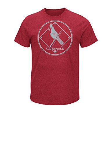 MLB St. Louis Cardinals 1942-44 Men's Great View Tee, Red Pepper Heather, Small