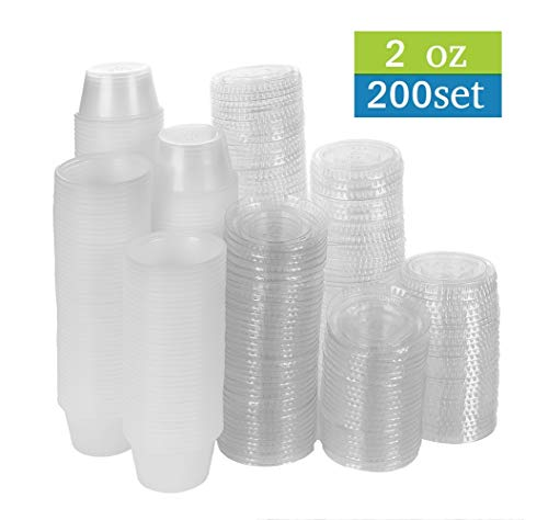 2 oz portion cups with lids - 6