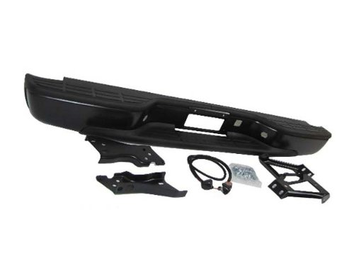 Silverado Rear Chevy Bumper - 99-07 SILVERADO / SIRRA 1500 2500 FLEETSIDE REAR BUMPER BLK W/BRACKET HITCH ASSY