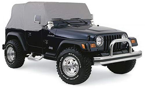 Cover Water Resistant Cab - RAMPAGE PRODUCTS 1159 Water Proof Cab Cover with Door Flaps for 1976-86 Jeep CJ7, Grey