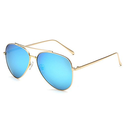 UV en de Polarisés 400 Protection Hommes de Couleur Blue Cadre de Yxsd Green par Lunettes Soleil Métal aviateur CxO65qFzw