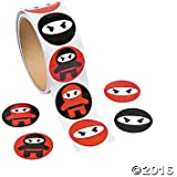 Ninja Sticker Roll - 100 stickers per roll