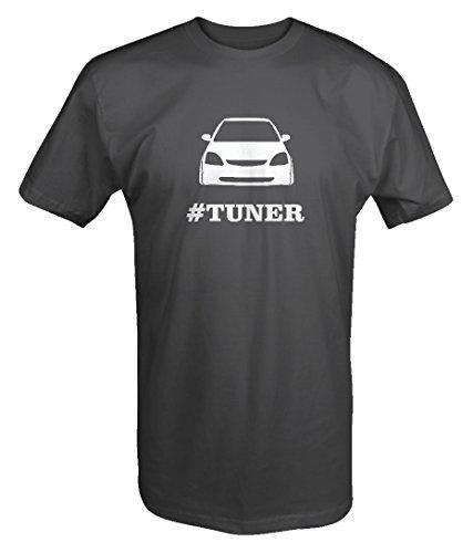 - Honda Civic Si Racing Lowered #TUNER T shirt -Medium