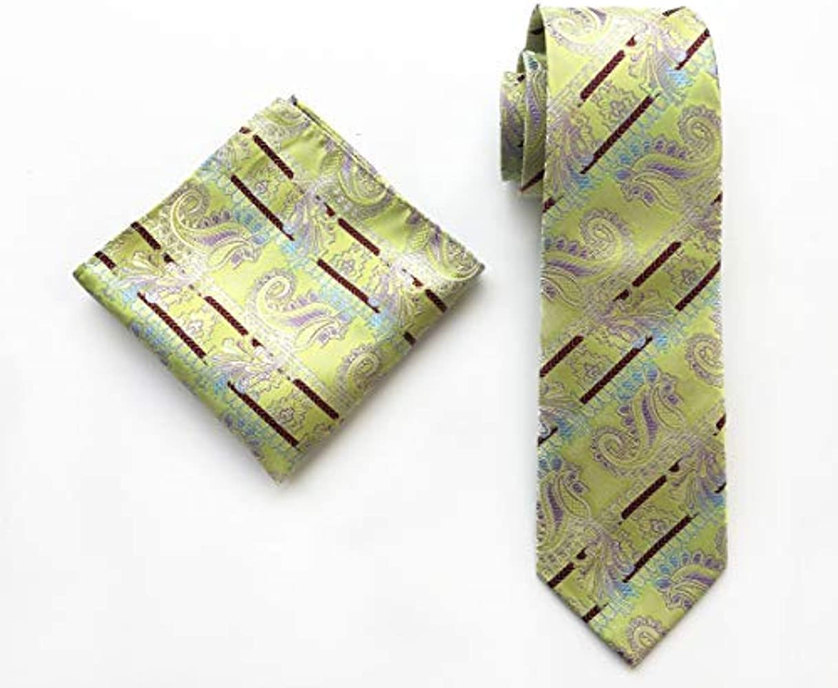 YIMANIE - Corbata de seda para hombre, diseño de cachemira: Amazon ...