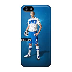 For Iphone 5/5s Fashion Design Juventus Giorgio Chiellini On Blue Background Case by runtopwell