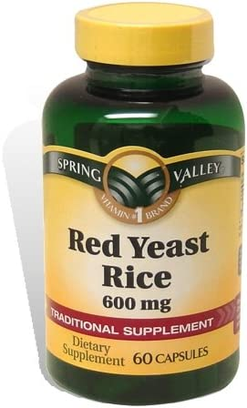 Spring Valley – Red Yeast Rice 600 mg, 60 Capsules