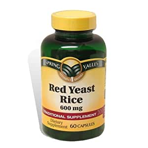 Amazon.com: Spring Valley - Red Yeast Rice 600 mg, 60