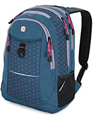 SwissGear Colors 15 Laptop Backpack, Dark Gems/ Dots/ Pink, One Size