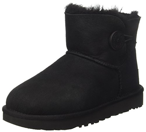 Lady Mini Button - UGG Women's Mini Bailey Button II Winter Boot, Black, 6 B US