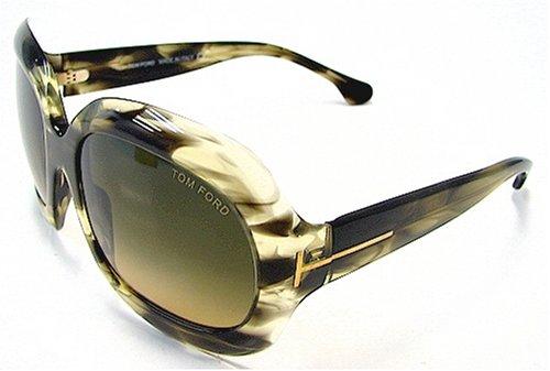 2e28ecee87c88 TOM FORD Bianca TF83 TF-83 Melange Olive Green U46 Frame Sunglasses   Amazon.co.uk  Clothing