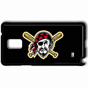 Personalized Samsung Note 4 Cell phone Case/Cover Skin Pittsburgh Pirates Logo Sporty Black