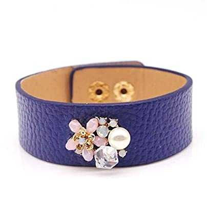 ZUOZUO Leather Wristband Original Design Leather Bracelet And Ladies Bead Bracelet Estimated Price £18.99 -