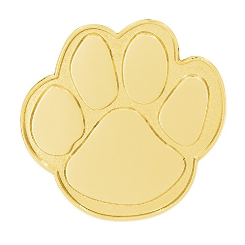 PinMart's Gold Animal Paw Print School Mascot Lapel Pin by PinMart