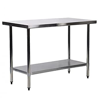 amazon com 24 x36 stainless steel kitchen work table commercial