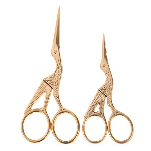 Jiansy Alloy Pattern Vintage Scissors Seamstress Plum Needlework Tailoring Tools gold by Jiansy (Image #1)