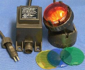 10 watt Submersible Pond Light with Transformer and Color Lenses