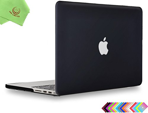 UESWILL Matte Hard Shell Case Cover for MacBook Pro (Retina, 13 inch, Early 2015/2014/2013/Late 2012), Model A1502/A1425, NO CD ROM, NO Touch Bar, Black