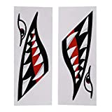 Shark Teeth Mouth Vinyl Decal Stickers,Flying Tigers Decals Shark Teeth Stickers for Kayak Canoe Dinghy Boat