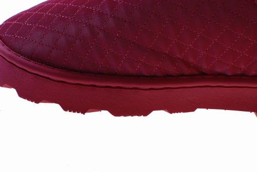 In Pantofole Donna L'inverno Pu Uomo lattice rosa Cucitura Donna Per Pelle Pantofole E Calde Colorfulworldstore Laterale Peluche xqXw7nPz