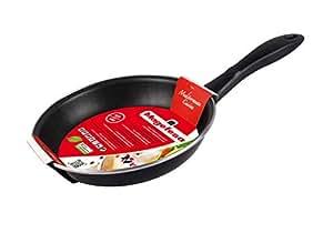 Magefesa Black Sartén 18 cm de acero esmaltado, antiadherente bicapa reforzado, color negro exterior. Apto para todo tipo de cocinas, incluida ...
