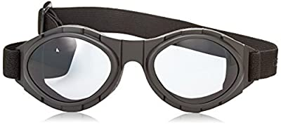 Bobster Bugeye 2 Interchangeable Goggles, Black Frame/3 Lenses (Smoked, Amber and Clear)
