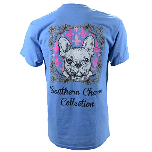 (Southern Charm Collection Bulldog on a Sapphire Short Sleeve T Shirt 4X)