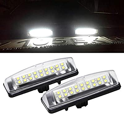 LED License Plate Light for Toyota/Lexus - NSLUMO LED Replacement Bulbs for Car Toyota Camry/Aurion Prius Avensis Verso Lexus Is200/300 White Rear Tag Lamp: Automotive