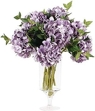 5 x Hibiskus crème fleurs têtes ART FLEURS-soie fleurs