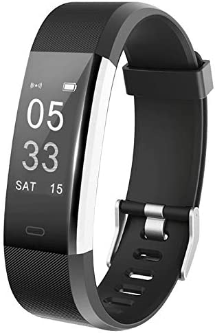 Lintelek Fitness Tracker, Activity Tracker with Heart Rate Monitor, Smart Fitness Watch with Sleep Monitor, Step Counter, Calorie Counter, Pedometer Watch for Women Men and Gift