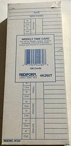 (Rediform Weekly Time Card-4K260T -3
