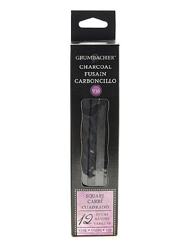 Prismacolor Artists' Charcoal Sticks square vine medium pack of 12 V2
