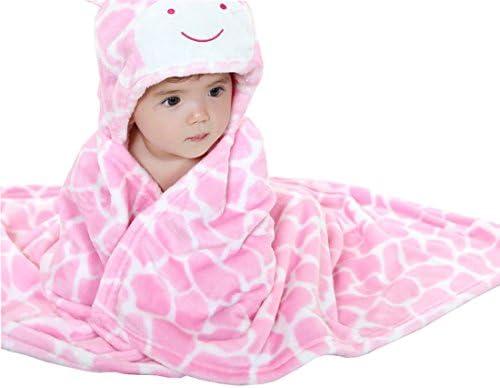 Baby Weich Swaddle Wickeldecke OKSakady Infant Kleinkind Tier Fleece Bademantel mit Kapuze Bad Badetuch Kinder Geschenk