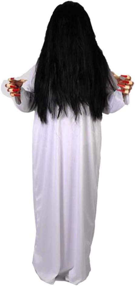 Amosfun Disfraz de Fantasma de Mujer de Halloween Ropa Blanca y ...