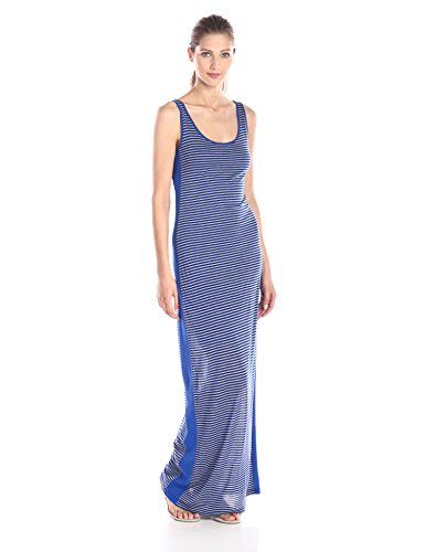 Three Dots Women's Heathered Stripe Column Maxi Dress, Su...