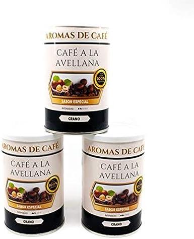 Pack de 3 - Café de Avellana 100% Arábica en Grano - Café en Grano Sabor Avellana - Intensidad Media Suave e Intenso - 3x100 gr: Amazon.es: Alimentación y bebidas