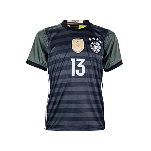 promo code a2cf7 3243b Germany Euro 2016 #13 Thomas Müller Away Soccer Fan Jersey ...