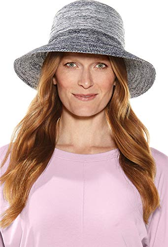 (Coolibar UPF 50+ Women's Marina Sun Hat - Sun Protective (One Size- Navy Ombre))