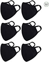 6 Pack Cotton Unisex Face Shield Reusable for Cycling Camping Travel for Kids Teens Men Women