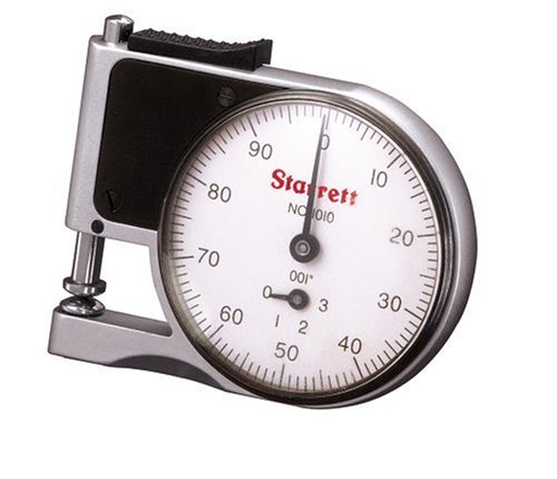Starrett 1010Z Dial Indicator Pocket Thickness Gage, 0.25