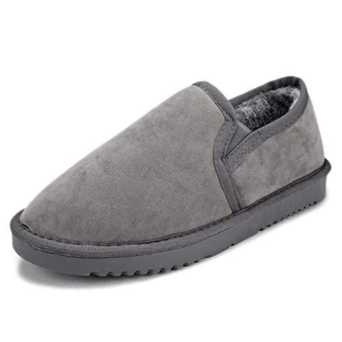 JOYBI Women Winter Cotton Snow Boots Round Toe Non Slip Lazy Warm Comfortable Ladies Casual Ankle Booties