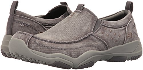 Bolten Loafer tela USA Larson On grigia Slip Uomo Skechers qt4xa4