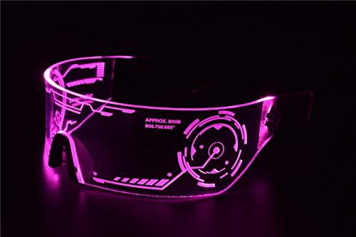 Cyberpunk LED Tron Visor Glasses - Perfect For Cosplay and Festivals - Cybergoth - Cyberpunk Glasses Goggles ()
