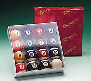 Supapro - Juego de bolas de billar (41 mm), diseño de rayas y ...