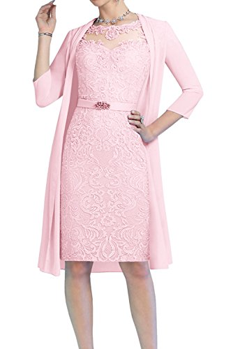 en Corte Topkleider para o A Rosa Mujer Trapecio 44 Vestido gwwqfv4OI