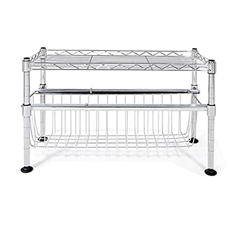 Leewos Shipped from US Stacking Shelf Sliding Basket Organizer 11.5 x 17.5 x 10 Inch Drawer Collection, Easy to Clean and - 3 Shelf Stacking Bookcase