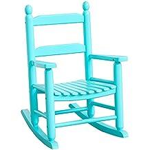 B&Z KD-20BB Classic Child's Porch Rocker Rocking Chair Blue Country Plantation