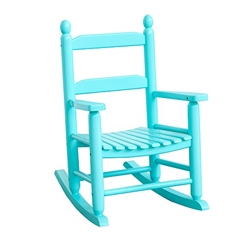 Country Porch Arm Chair - B&Z KD-20BB Classic Child's Porch Rocker Rocking Chair Blue Country Plantation