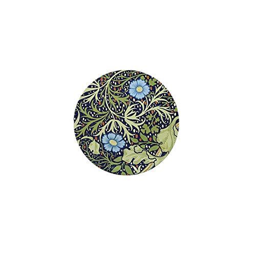 CafePress Blue Floral Vintage Wallpaper 1